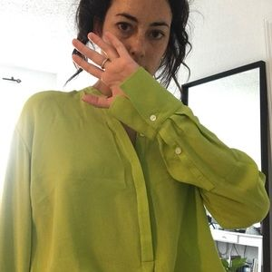 Vince lime green top sz S